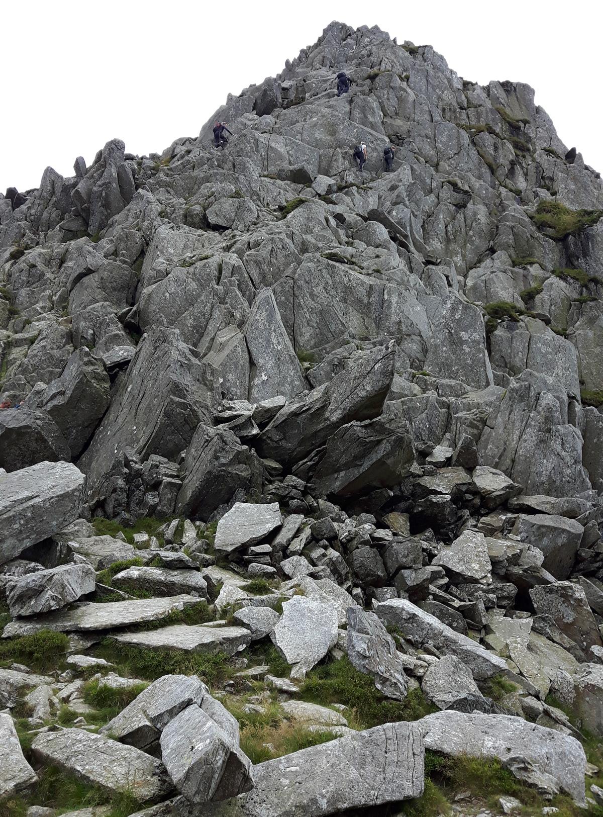 Climbing Tryfan