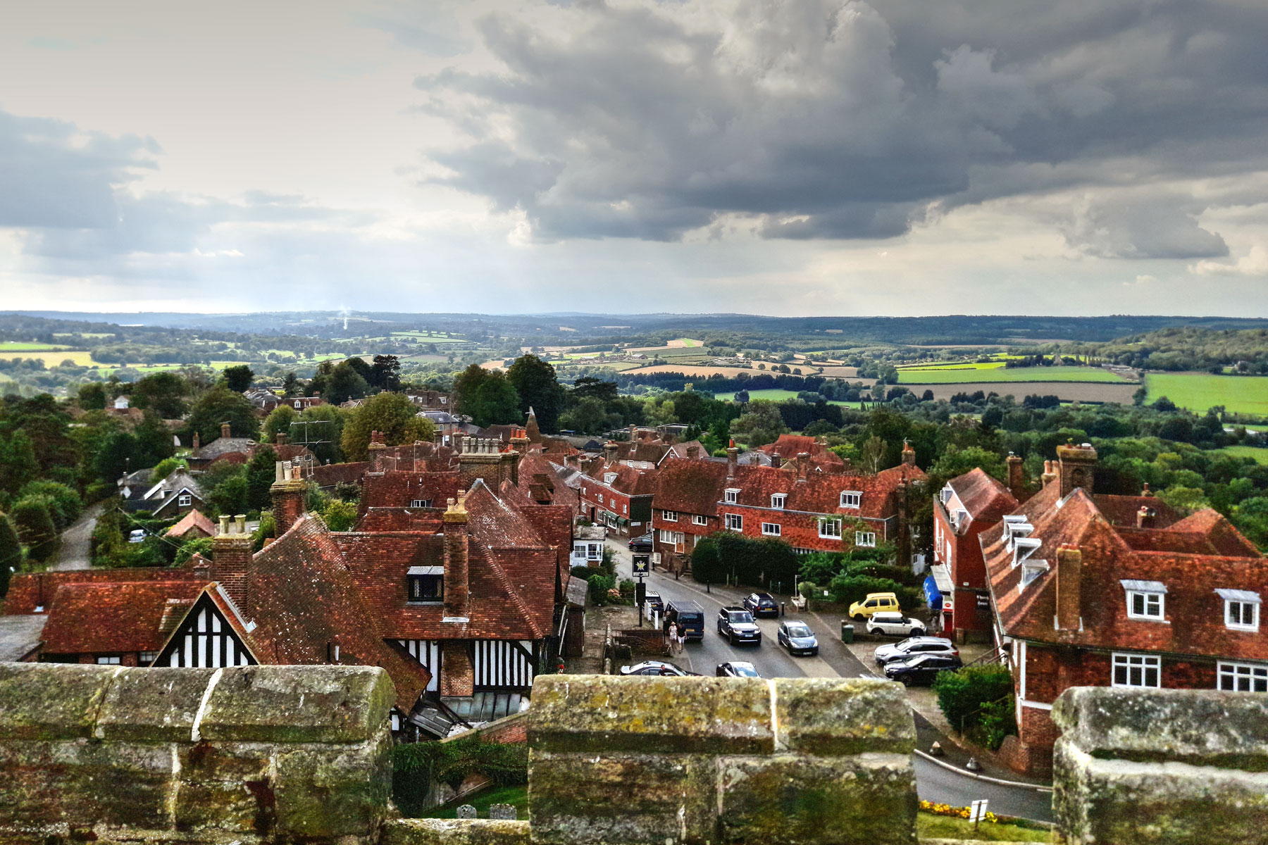 Goudhurst High Street from the Church Tower