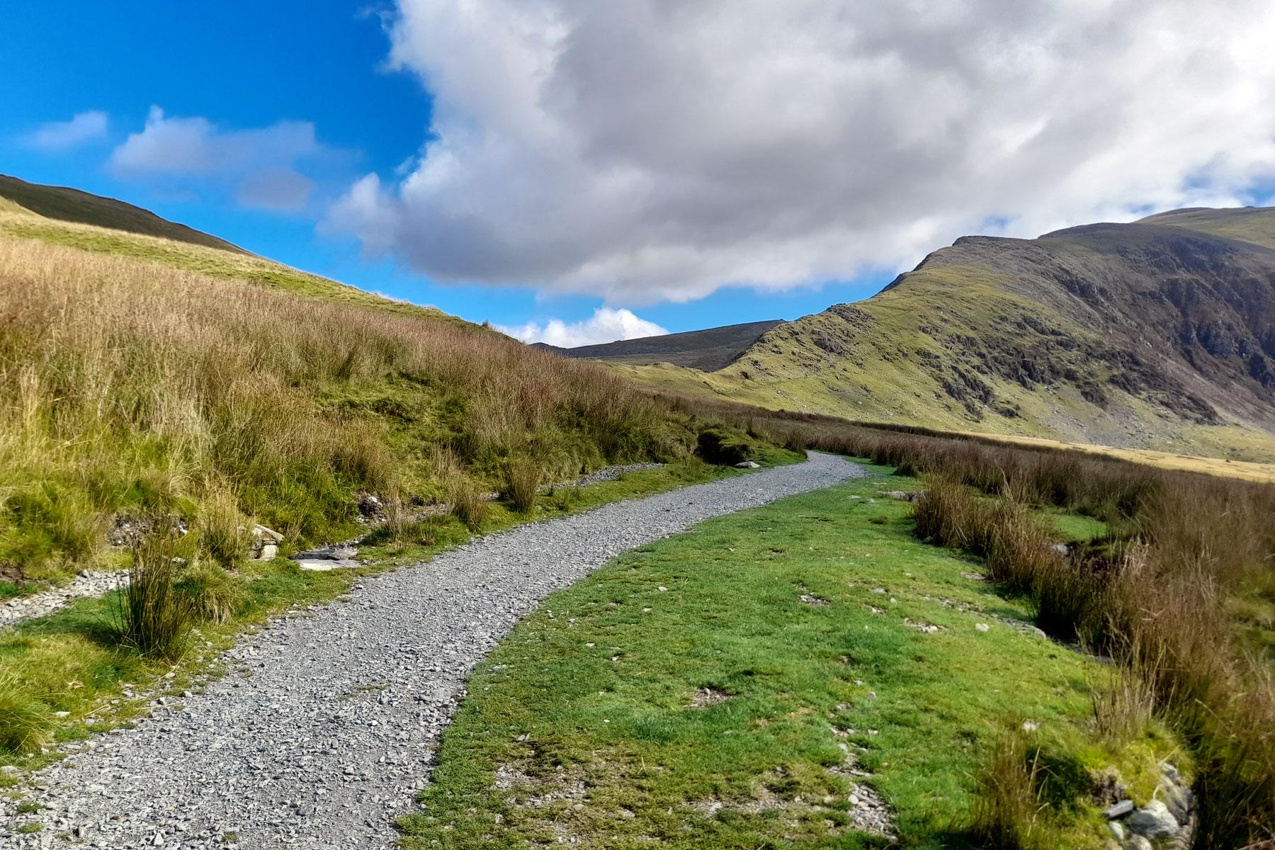 Climbing Snowdon on the Rangers Path